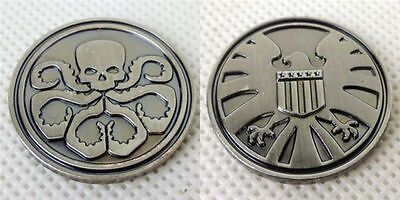 New The Avengers Agents of Shield Hydra Double Metal Badge Commemorative Coin