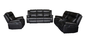 Brand new leather air recliner sofa & loveseat is on sale $1398!
