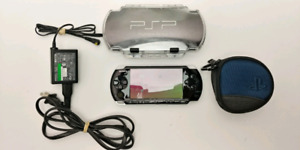 PSP 3000 Black 2GB + SNES/SEGA/NES+ Clear Case + More