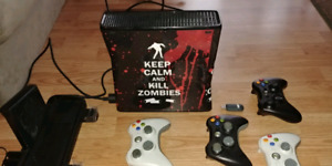 Xbox 360 slim +Chair, Games and more