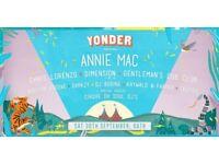 6 Tickets for Yonder Festival Bath Annie Mac Saturday 30th September