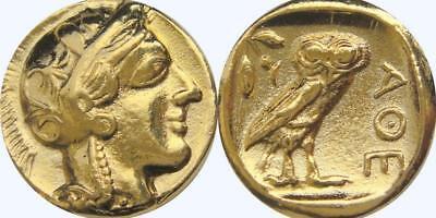 Athena and Owl Greek Coin Annabeth's Mother Precy Jackson Teen Gift (PJ77-G)
