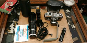 Vintage Yashica J-3 35mm Camera Outfit