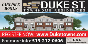 New Freehold Townhouses in Cambridge - Hwy 401 / King Street