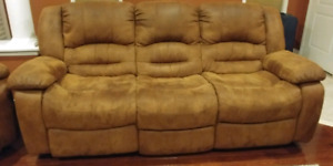 Reclining Sofa and Reclining Rocking Chair
