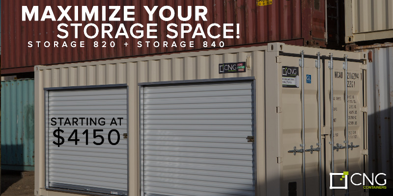 20 Sea Container storage unit w roll up doors Sale Business