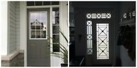 WROUGHT IRON & DECORATIVE GLASS DOOR INSERTS