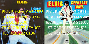 COLLECTION DISQUES VINYLES BEATLES ELVIS ETC ETC