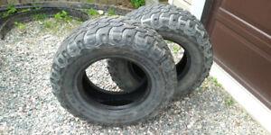 2 Tires - LT 285 R70 17 Load Rating E