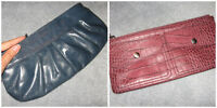 LOT of 2 Aldo and Club Monaco leather women clutches