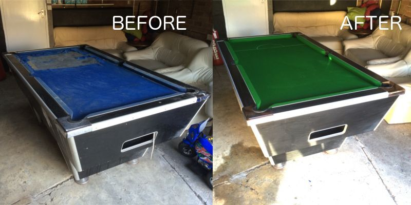Pool Table Recovery Anywhere In London Recovering Recloth - Reclothing pool table
