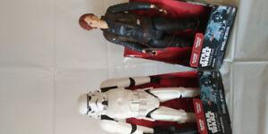 "Star Wars Rogue one: STORM TROOPER & JYN ERSO 18"" Figure"