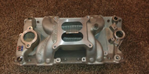 7501 Edelbrock Air Gap intake manifold SBC with gaskets