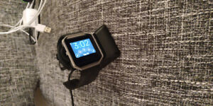 Like new Black Fitbit Blaze with charging stand