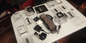 Gopro 3 accesories and batteries.