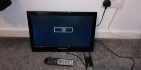 22 inch tech wood tv and remote