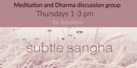 Meditation Group - Thursdays 1 to 3 pm by donation