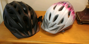 Adult and youth bike helmets
