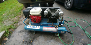 Barely used. Dual tank gas compressor
