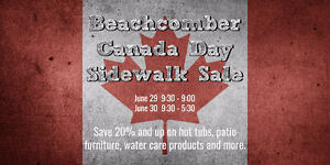 Canada Day Sidewalk Sale - Hot Tubs, Patio & more