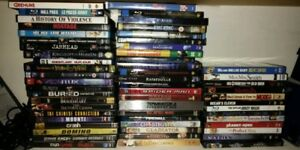Set of DVDs and Blurays