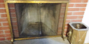 Brass screen mesh fireplace