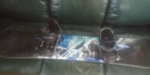 Snow boards and boots