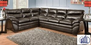 Brand NEW Soho Espresso Bonded 2PC Sectional! Call 204-691-8283!