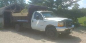 truck f550 dump truck  and 16' dump trailer and 341 excavator