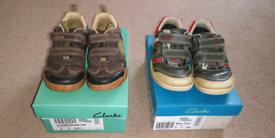 Boys CLARKS Shoes Size 8F & 8.5F