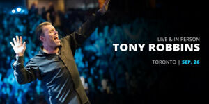 ***TONY ROBBINS, TORONTO SEPT.26 2018***VIP Ticket