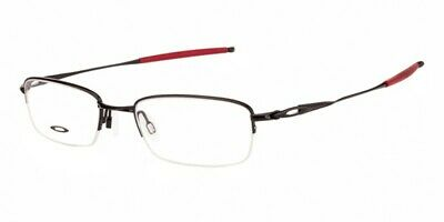Oakley OX3133 RX Prescription Frame Pol. Black Red OX3133-0751 51mm Half (Red Rimmed Sunglasses)