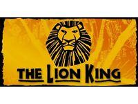2 LION KING THEATRE TICKETS, LONDON LYCEUM THEATRE