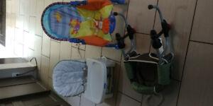 Lot de 3x chaises pour bébé(pour chaise ou comptoir)