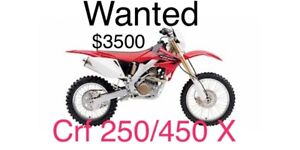 Crf 450 or 250X wanted