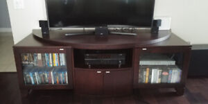 Spacious solid wood TV cabinet