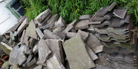 Free clean paving slabs for hard-core