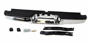 TO1102215, New Rear Step Bumper Face Bar - Chrome For Toyota Tacoma, 1995-2004