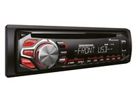 Pioneer Car CD Player + Aux In & USB in - DEH-1600UB