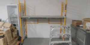 6 Foot Scaffolding + 3 Step Bench