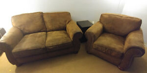 Loveseat chair and couch set