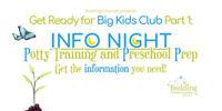 Info Night: Potty Training and Preschool Prep!