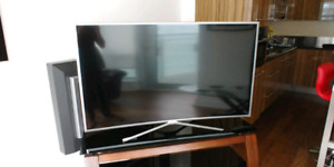 "Samsung 55"" Curved LED Smart TV and Stand"