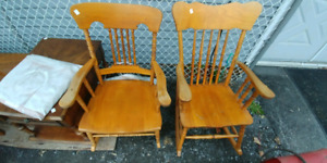 Two rocking chairs for sale. Free delivery.