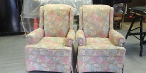 Pair of ACCENT  CHAIRS - Pastels - Like NEW