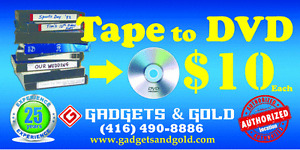 VHS to DVD $10 -Over 25Yrs in Business