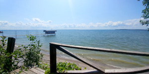 Waterfront cottage in Beaverton on Lake Simcoe