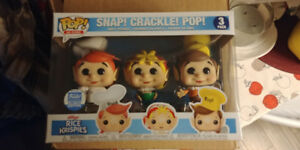 Rice Krispies Funko POP! Vinyl 3 pack. Sold out, limited edition