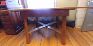 Rustic solid oak table for sale