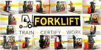 Forklift Training + Certification (Licence) + Jobs from $75